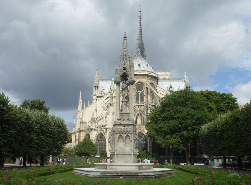 Catedral de Notre Dame, parte de trás