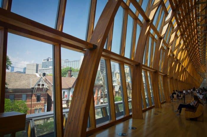 Detalhes da arquitetura da Art Gallery of Ontario
