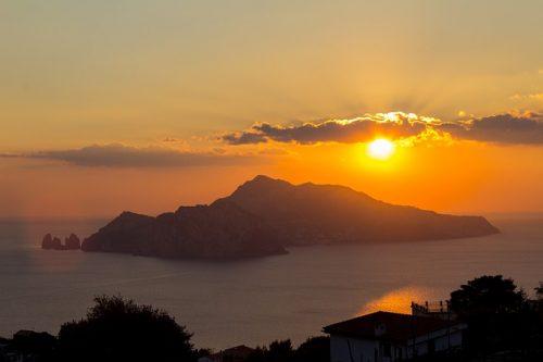 Pôr do sol em Capri