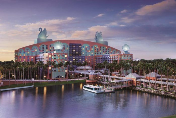 World Swan hotel dentro do complexo da Disney