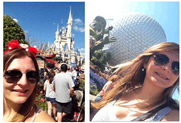 turista nos parques da Disney, de Orlando