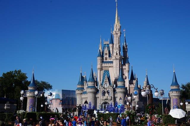 Frente do Castelo da Cinderela na Disney