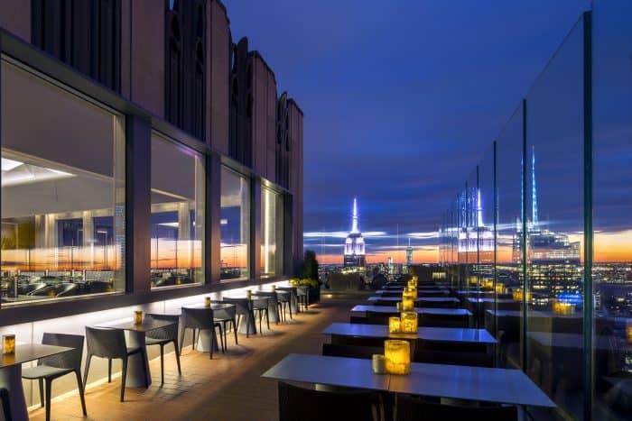 Bar com vista em Nova York