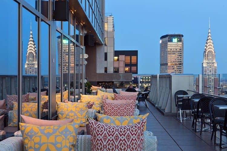 Lounge confortável em Manhattan