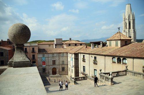 Casas medievais em Girona