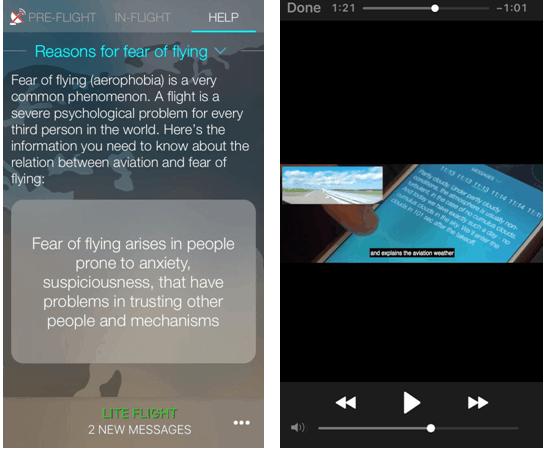 Telas explicativas do app Sky Guru