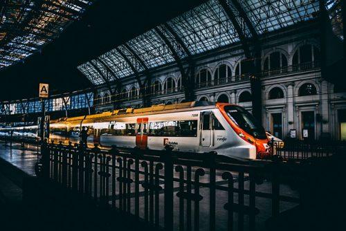 Trem em Barcelona