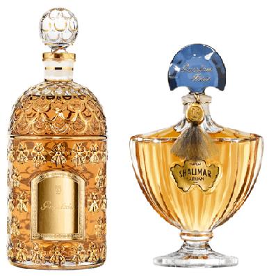frascos clássicos de perfumes Guerlain