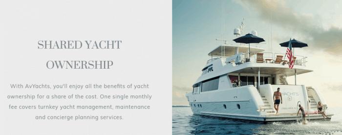 Banner do site da da Av Yachts com pessoas se divertindo em yacht luxuoso