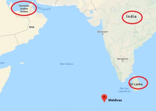 Onde fica as Maldivas