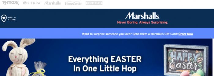 Informações no site da Marshalls