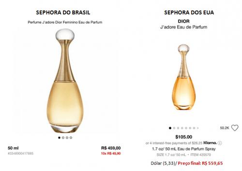 Quanto custa perfume francês no Brasil
