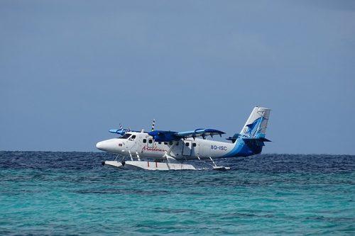 Hidroavião nas Maldivas