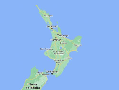 mapa ilha norte nova zelandia