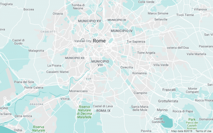 Mapa de Roma colorido