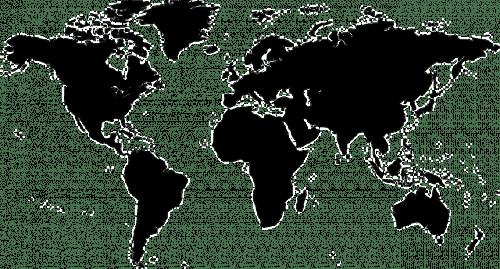 Nova Zelândia no mapa mundi