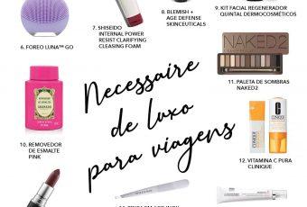 Necessaire de luxo: 20 produtos que não podem faltar