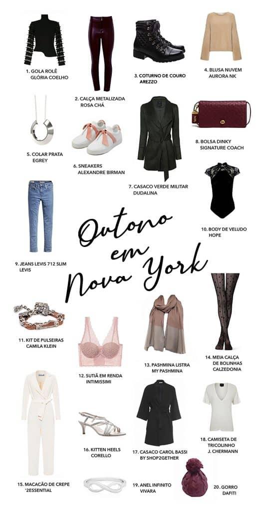Peças de roupas femininas para curtir o outono em Nova york