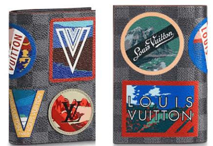 Capa de passaporte com carimbos da Louis Vuitton