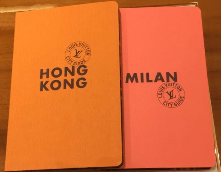 Capa de guias de viagem da Louis Vuitton