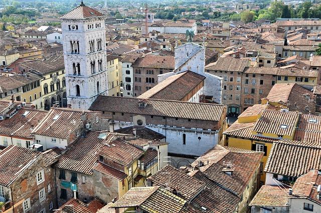 Vista panorâmica de Lucca