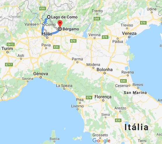 Mapa da Lombardia