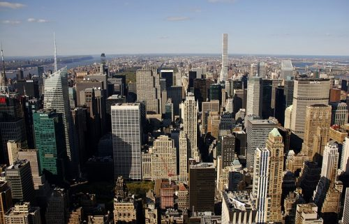 Vista de mirante em Nova York
