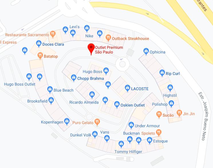 Lojas vistas pelo Google Maps