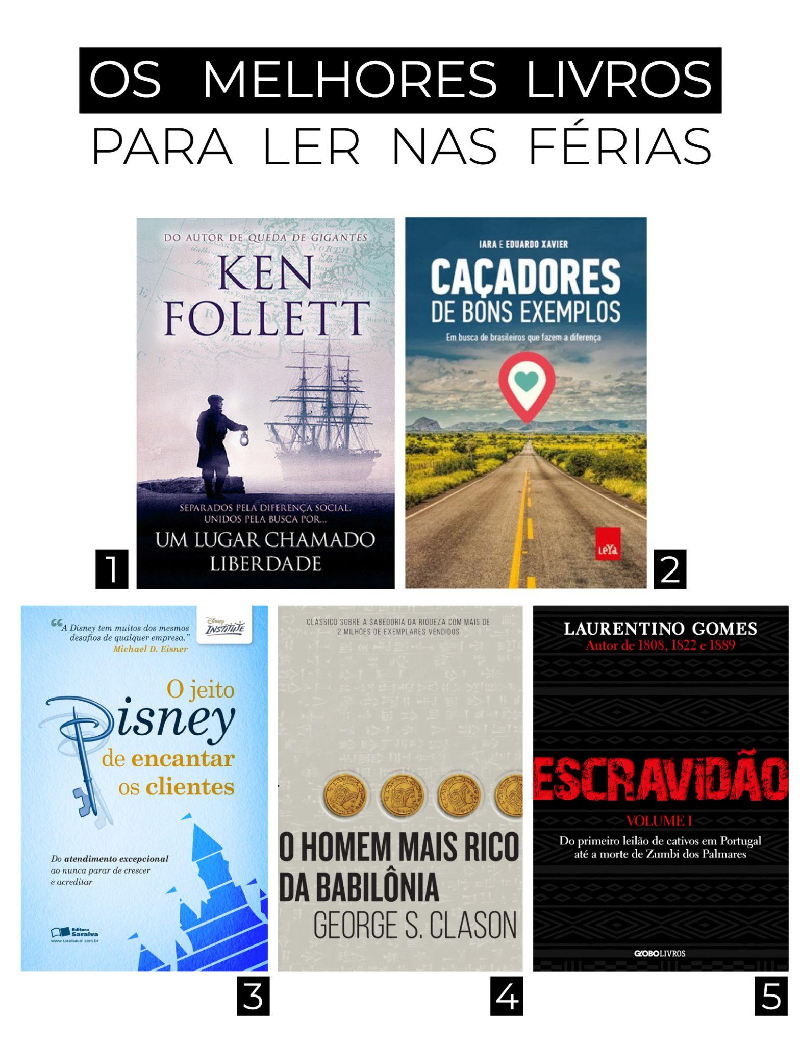 Livros para as férias