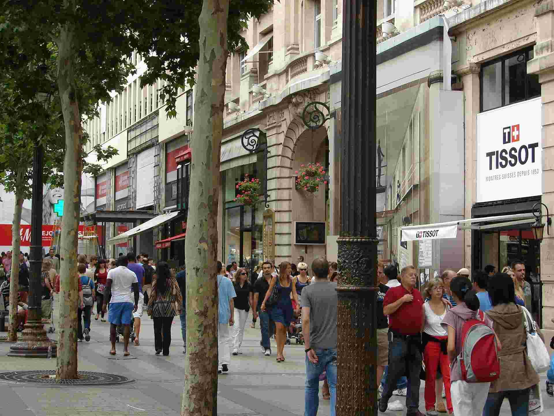 Turismo em Paris :avenida champs elysees