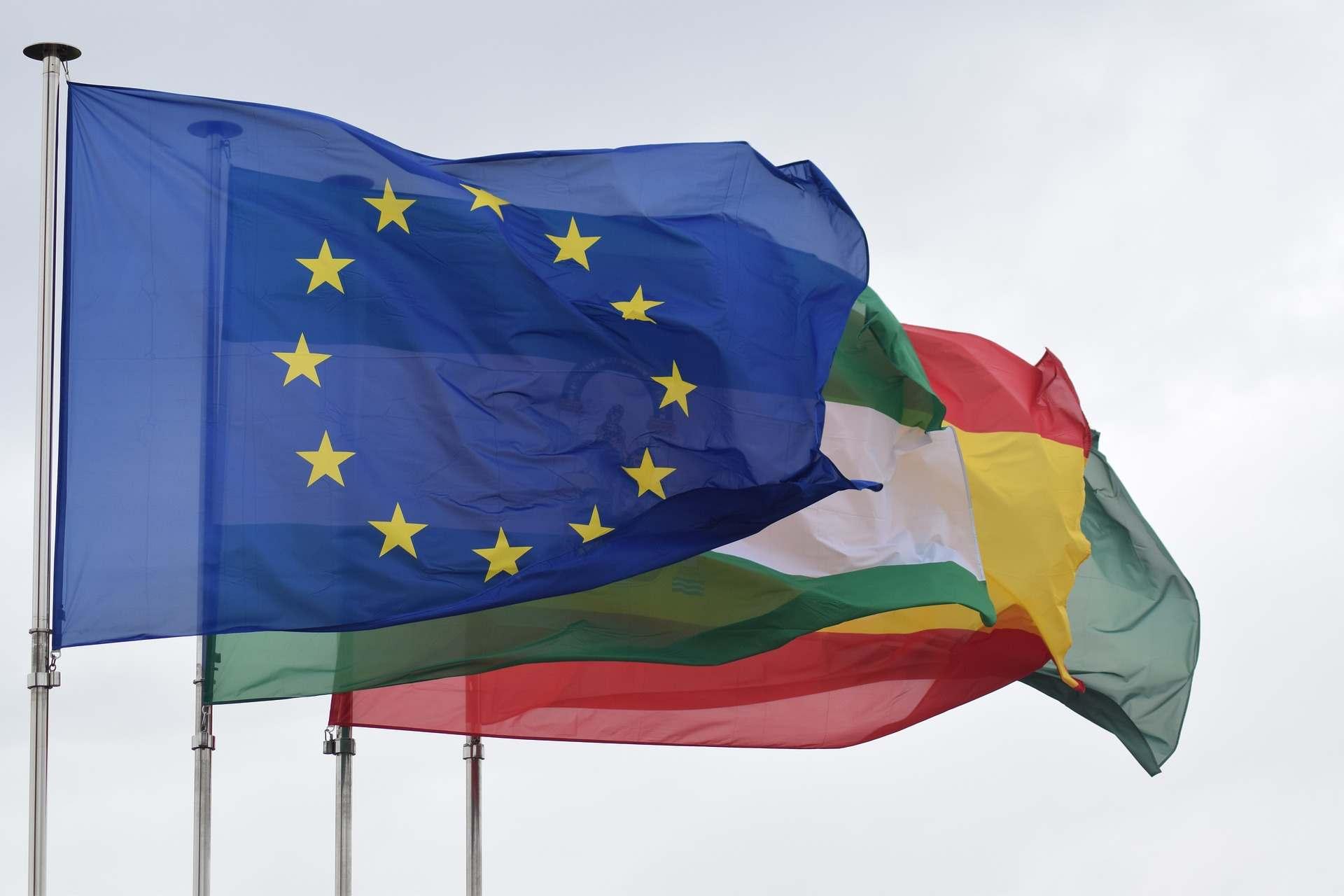 visto europa: bandeiras da união europeia