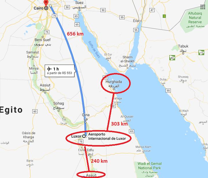 Distância de Luxor