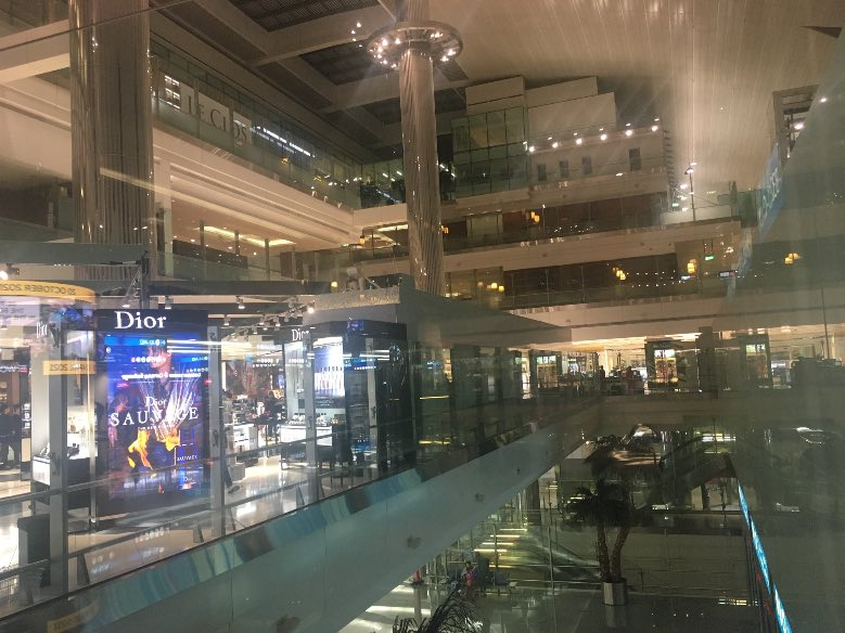 Aeroporto de Dubai pátio do terminal A