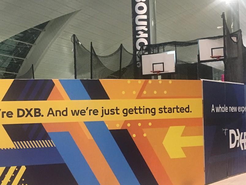 Aeroporto de dubai basquete