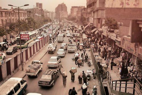 Trânsito no Cairo