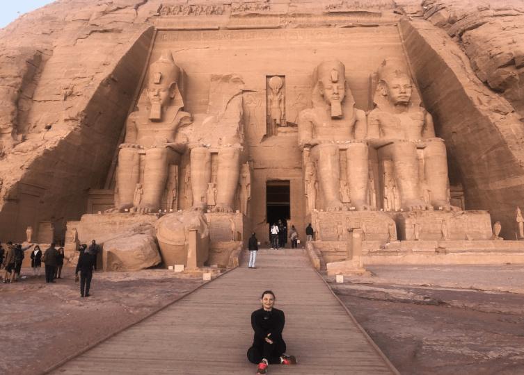 Frente do Templo de Abu Simbel
