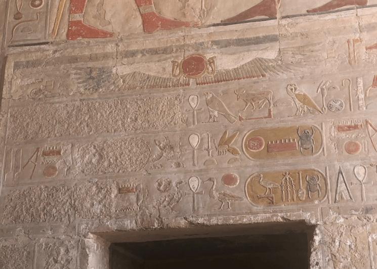 Vestígios do Templo de Hatshepsut