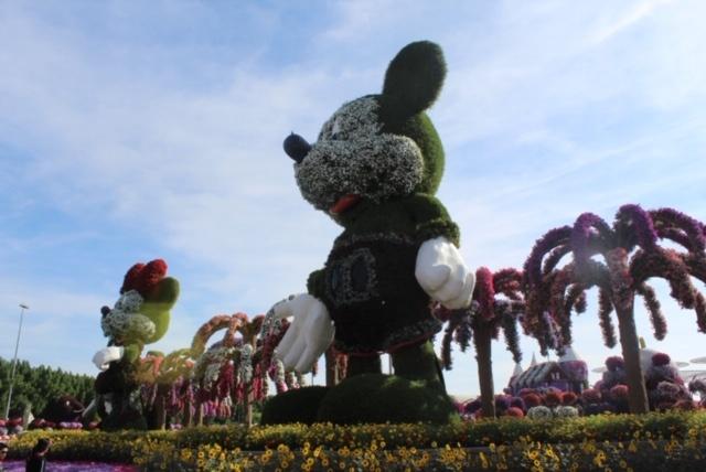 Estátua do Mickey no Miracle Garden