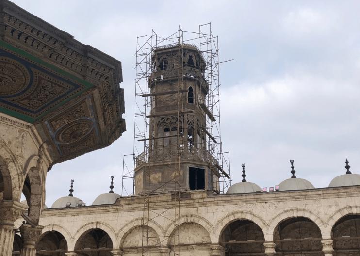 relógio dos franceses na Mesquita de Alabastro