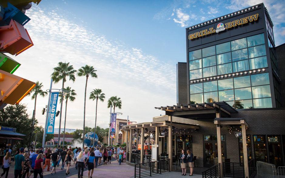 O NBC Sports Grill & Brew é um dos restaurantes temáticos de Orlando localizado no CityWalk