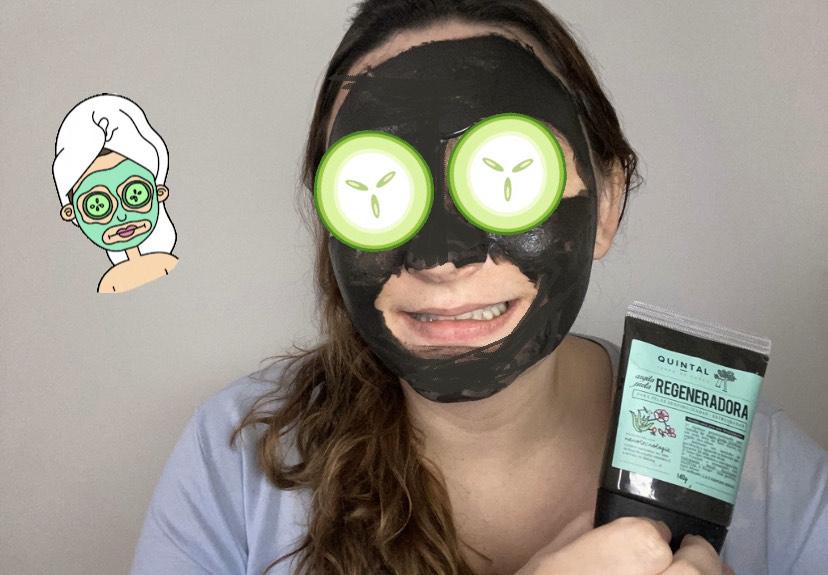 Como é usar a máscara regeneradora da Quintal