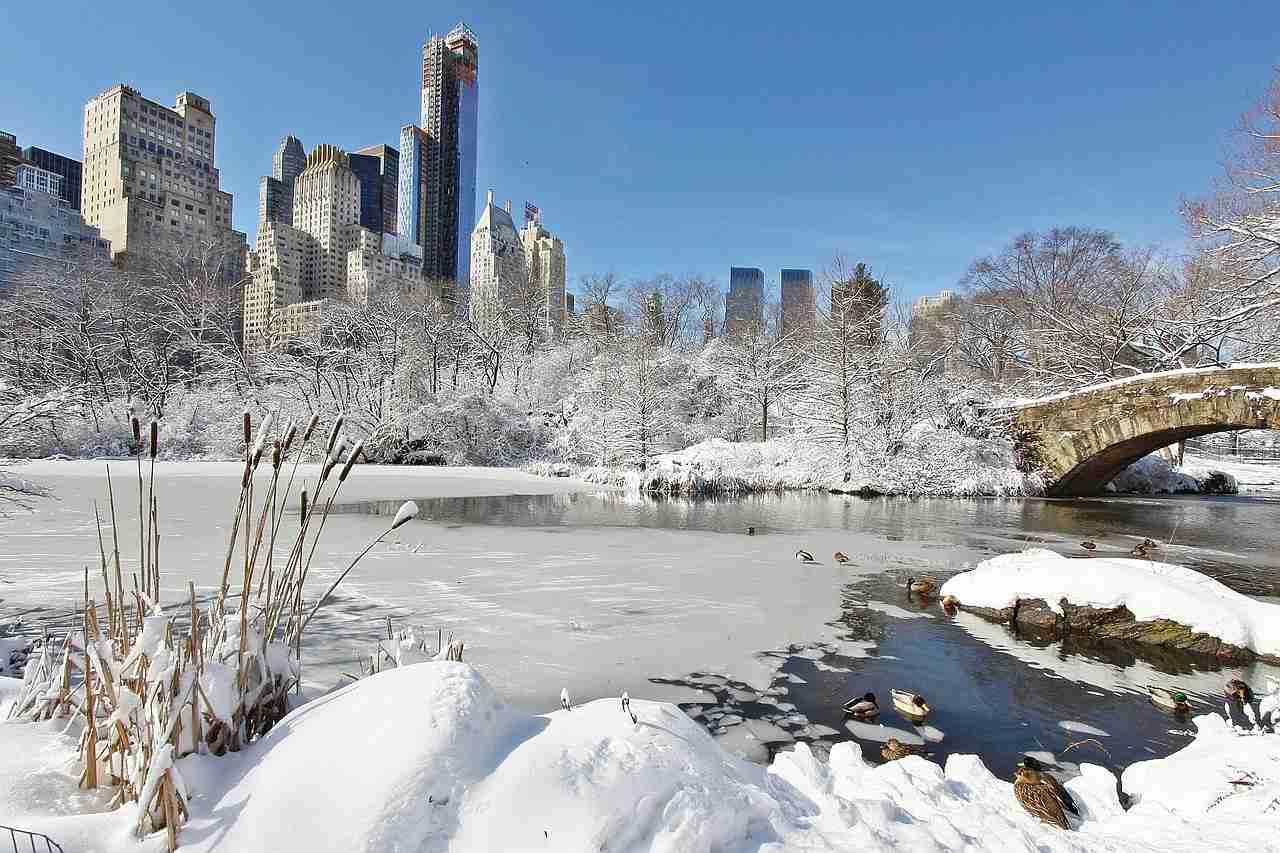Central Park durante o Inverno em Nova York