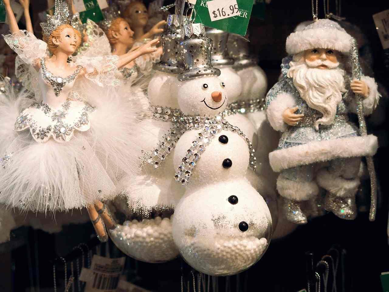 Lojas enfeitadas durante o Natal em Nova York