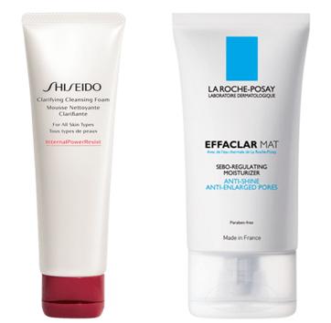 produtos para limpeza do rosto