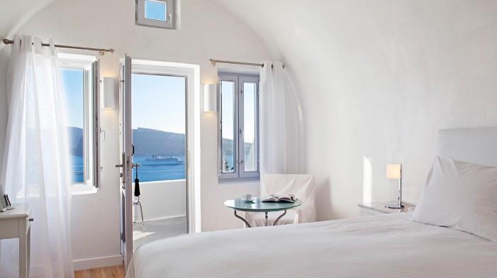 hotéis incríveis: Quarto do hotel Katikies