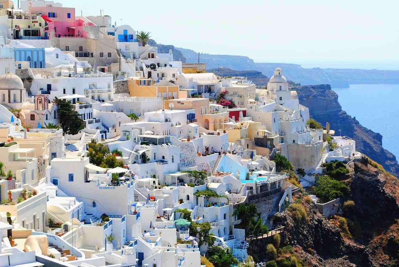 arquitetura de Santorini, na Grécia