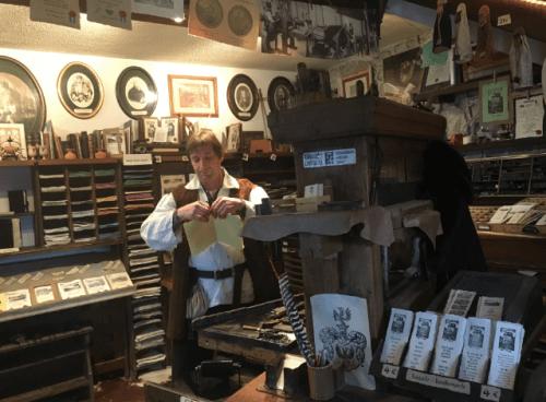 Loja de souvenir dentro do Castelo de Bled