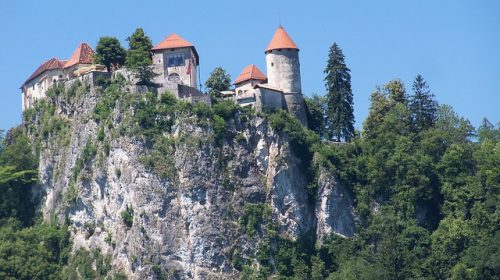 Castelo de Bled de perto
