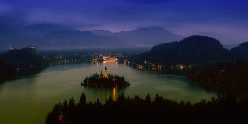 Como é a cidade de Bled