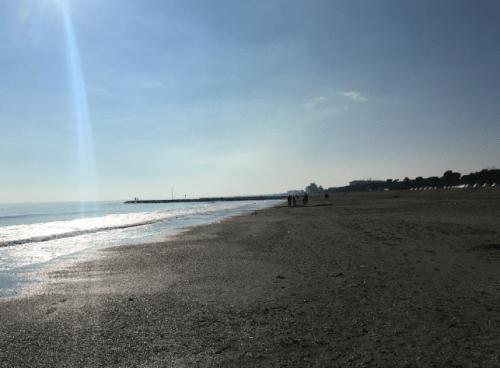 Extensa praia italiana